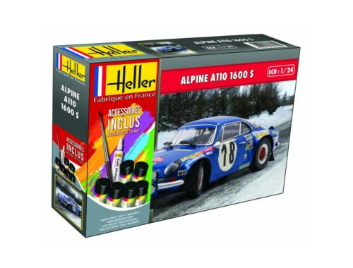 Heller Alpine A110(1600) Kit Ref. (including paints,brush and glue) 1:24 (56745)