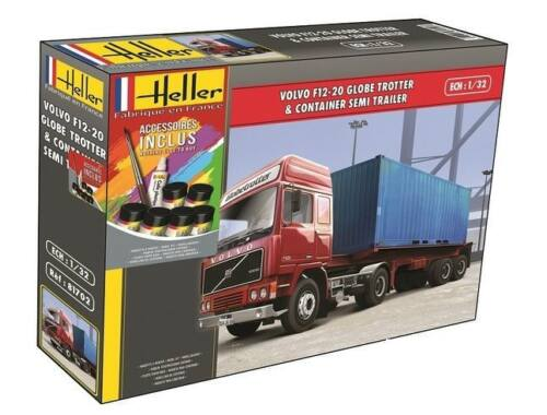 Heller Model Set Volvo F12-20 Container Semi Trailer 1:32 (57702)