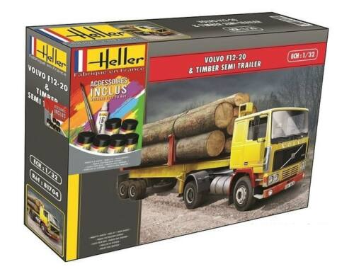 Heller Model Set Volvo F12-20 Timber Semi Trailer 1:32 (57704)