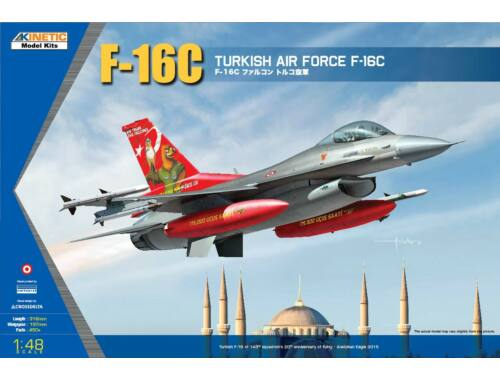 Kinetic F-16C Turkish Air Force 1:48 (48069)