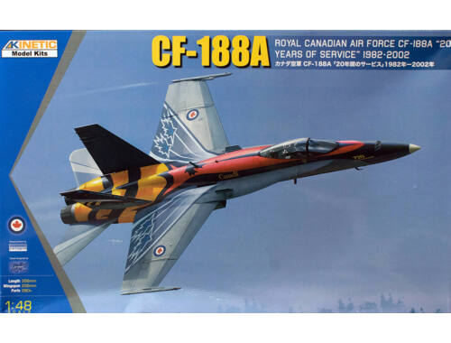 Kinetic CF-188A RCAF 20 years services 1:48 (48079)