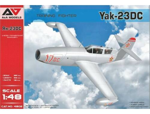 Modelsvit Yakovlev Yak-23 DC Training Fighter Fighter 1:48 (AAM4802)