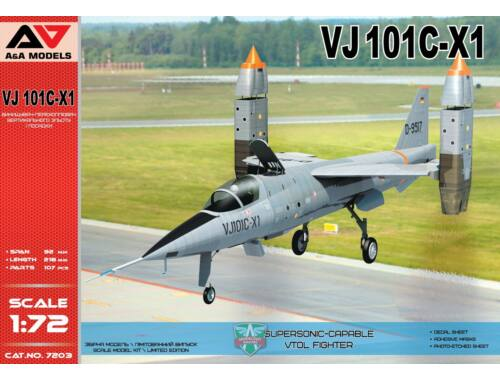 Modelsvit VJ101C-X1 Supersonic-capable VTOL fighte 1:72 (AAM7203)