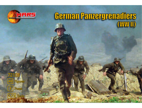 Mars WWII German panzergrenadiers 1:72 (72108)