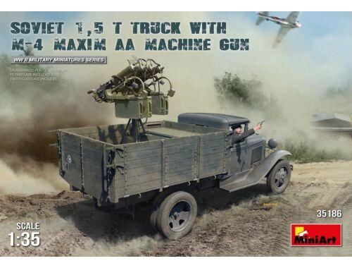 Miniart Soviet 1,5t Truck w/M-4 Maxim AA Machine Gun 1:35 (35186)