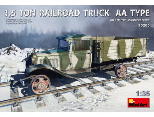 Miniart 1,5 Ton Railroad Truck AA Type 1:35 (35265)
