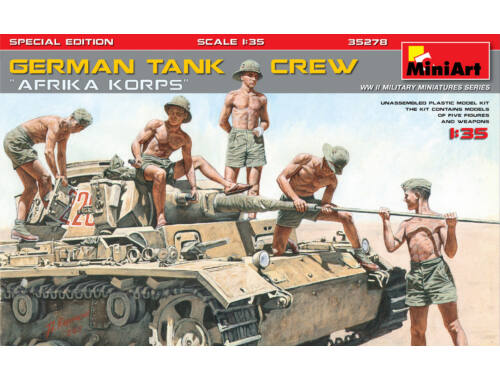 "Miniart German Tank Crew ""Afrika Korps"" Special Edition 1:35 (35278)"