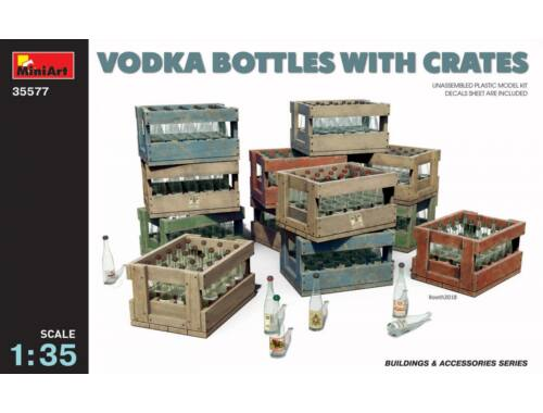 Miniart Vodka Bottles with Crates 1:35 (35577)
