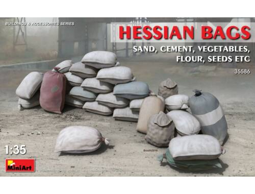 Miniart Hessian Bags (sand, cement, vegetables) 1:35 (35586)