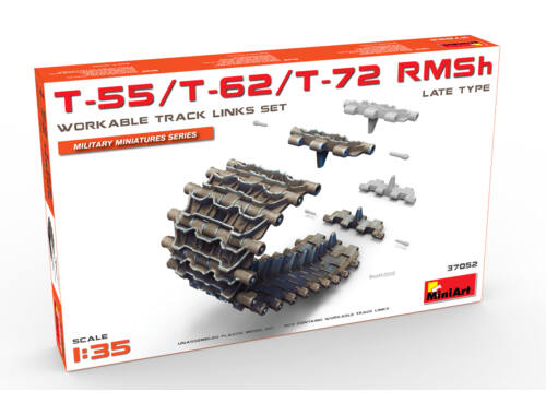 Miniart T-55/T-62/T-72 RMSh Workable Track Links Set.Late Type 1:35 (37052)