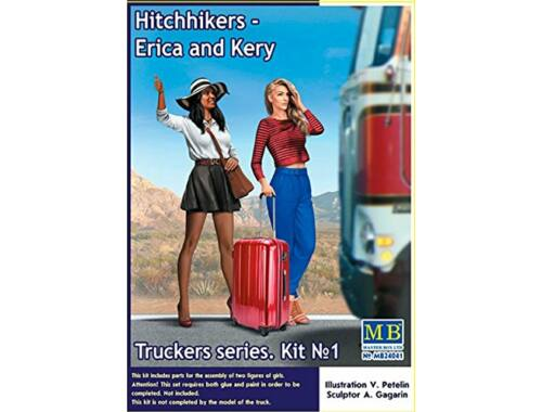 Master Box Hitchhikers-Erica and Kery,Truckers seri Kit No.1 1:24 (24041)