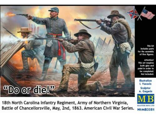Master Box Do or die!18th Infantry Regiment of North Carolina.U.S. Civil War Series 1:35 (3581)