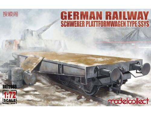 Modelcollect German Railway Schwerer Plattformwagen Type ssys 1 1 pack 1:72 (UA72086)