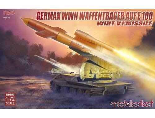 Modelcollect German WWII E-100 panzer weapon carrier with V1 Missile launcher 1:72 (UA72112)