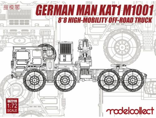 Modelcollect German KAT1M1001 8*8 HIGH-Mobility off- road truck 1:72 (UA72119)