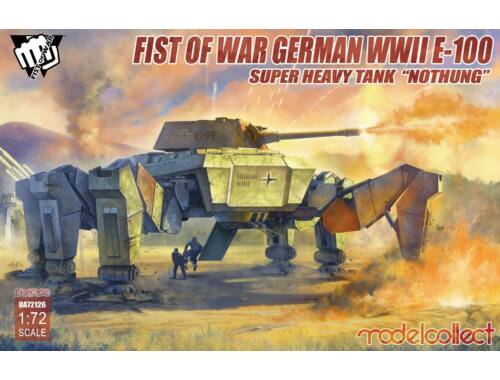 """Modelcollect Fist of War German WWII E-100 Supper Heavy Tank """"Nothung"""" 1:72 (UA72126)"""