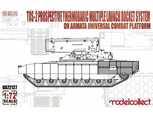 Modelcollect TOS-2 Prospective Thermobaric MuLtlpllau Rocket System on Armata Universal Combat 1:72