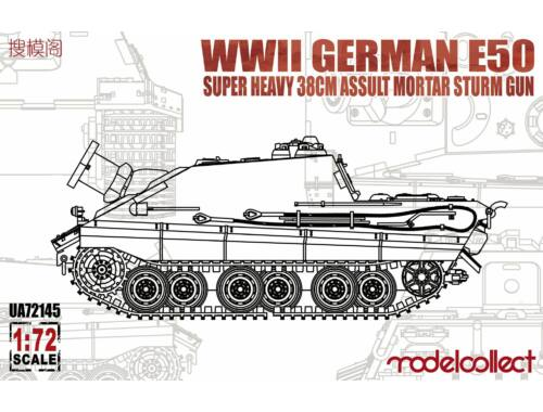 Modelcollect WWII German E-50 super heavy 38cm assult mortar sturm gun 1:72 (UA72145)