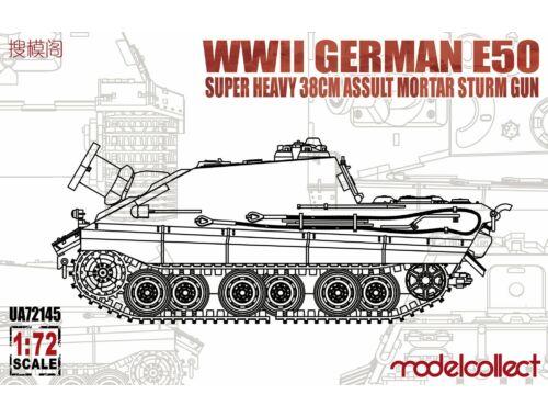 Modelcollect WWII German E-50 super heavy 38cm assult mortar sturm gun 1:72 (UA72145)
