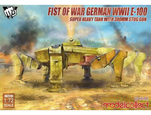 Modelcollect Fist of War German WWII E-100 Super Heavy Tank with 380mm stug gun 1:72 (UA72151)