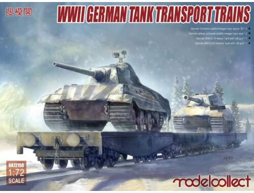 Modelcollect WWII German Tank Transport Trains 1:72 (UA72158)