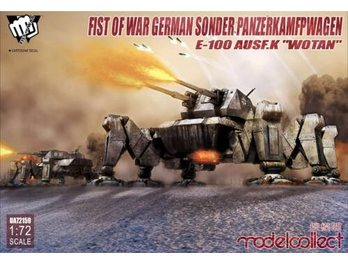"""Modelcollect Fist of WAr German Sonder PanzerKamfpWag E-100 ausf.k""""Wotan"""" 1:72 (UA72159)"""