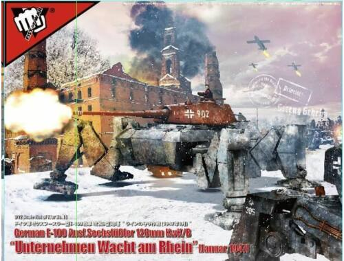 """Modelcollect German E-100 Ausf. 128mm KwK/B""""Operation Bulge"""" January 1947 1:72 (UA72181)"""