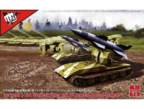 Modelcollect WWII V4 shot range tactical ballistic missile in Waffenträger Auf E100 1:72 (UA72190)