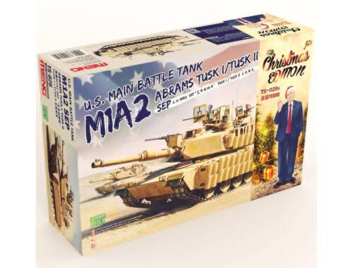 Meng U.S. Main Battle Tank M1A2 SEP Abrams TUSK I/TUSK II Limited Christmas Edit 1:35 (TS-026s)
