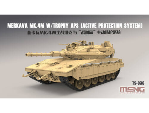 Meng Israel Main Battle Tank merkava Mk.4M w/Trophy Active Protection System 1:35 (TS-036)