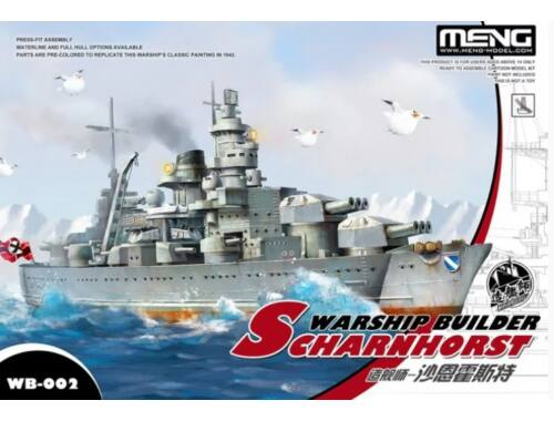 Meng Scharnhorst Warship Builder WW Toons Model (WB-002)
