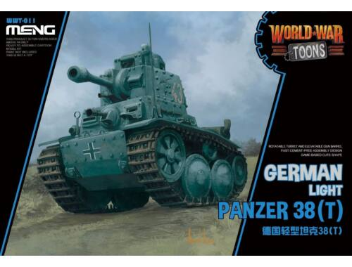 Meng German Light Panzer 38(T) WW Toons Model (WWT-011)