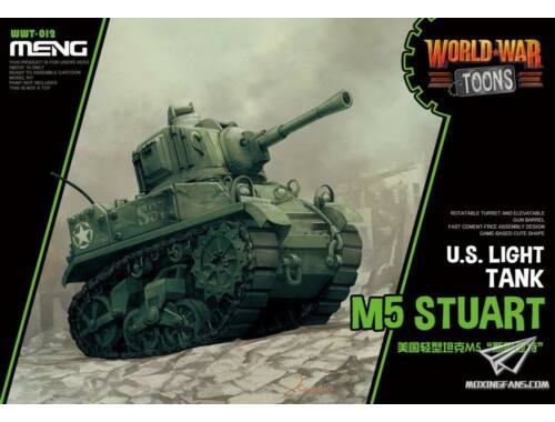 Meng U.S. Light Tank M5 Stuart WW Toons Model (WWT-012)
