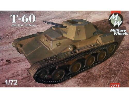 Military Wheels Tank T-60 (ZSU Flak 12,7 mm) 1:72 (7271)