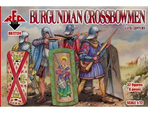 Red Box Burgundian crossbowmen, 15th century 1:72 (72124)