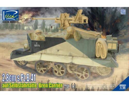 Riich 2.8cm s.Pz.B.41 auf SelbsfahrlafetteBren Carrier 731 (e) 1:35 (RV35031)
