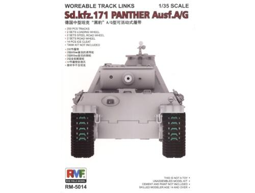 Rye Field Model Workable Track Links for Panther A/G 1:35 (5014)