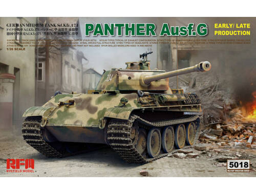 Rye Field Model Panther Ausf.G Early/Late productions 1:35 (5018)