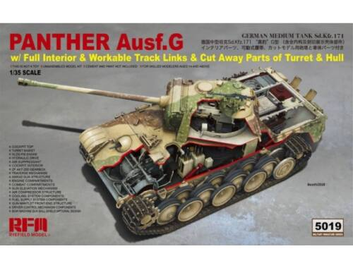 Rye Field Model Panther Ausf.G full interior cut away parts 1:35 (5019)