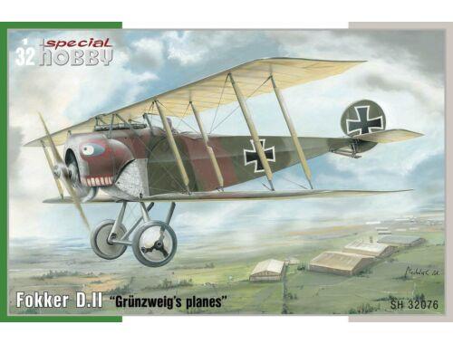 "Special Hobby Fokker D.II ""GrĂĽnzweig's Planes"" 1:32 (32076)"