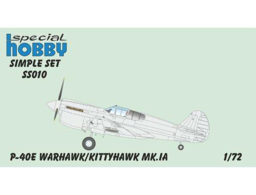 Special Hobby P-40E/Kittyhawk MK.IA Simple Set 1:72 (SS010)