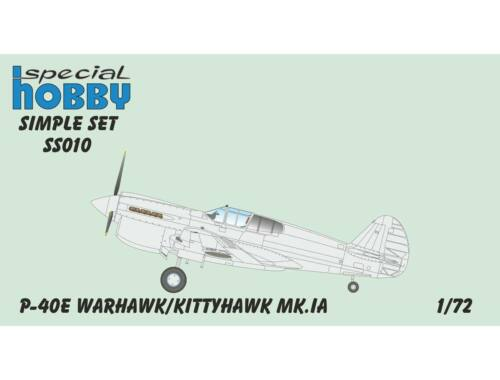 Special Hobby P-40N Warhawk Simple Set 1:72 (SS011)
