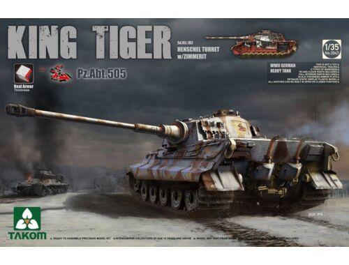 Takom WWII German Heavy TAnk Sd.Kfz.182 King Tiger Henschel Turret w/Zimmerit 1:35 (2047S)