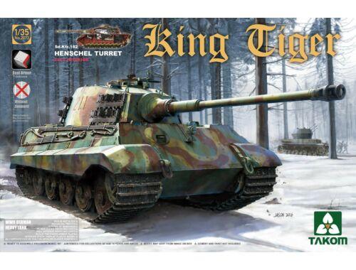 Takom WWII German Heavy Tank Sd.Kfz.182 King Tiger Henschel Turret w/interior 1:35 (2073S)