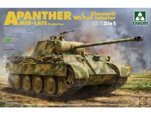 Takom WWII German medium Tank Sd.Kfz.171/267 Panther A Mid/late production 1:35 (2100)