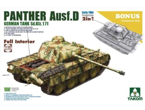 Takom WWII German medium Tank Sd.Kfz.171 Panth Ausf.D Early/Mid production w/full 1:35 (2103)