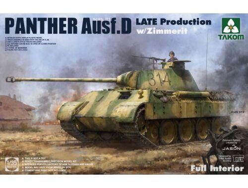Takom WWII German medium Tank Sd.kfz.171 Panth Ausf.D Late production w/Zimmerit 1:35 (2104)