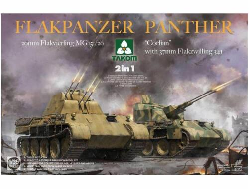 "Takom Flakpanzer Panther""Coelian"" with 37mm Flakzwilling 341"