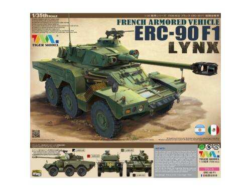 Tiger Model French Armored Vehicle ERC-90F1 Lynx 1:35 (4632)