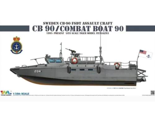 Tiger Model Sweden CB-90 FDST Assault Craft CB 90/ Combat Boat 90 1:35 (6293)